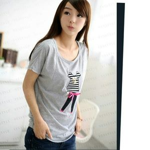 New Gray Blouse/Shirt
